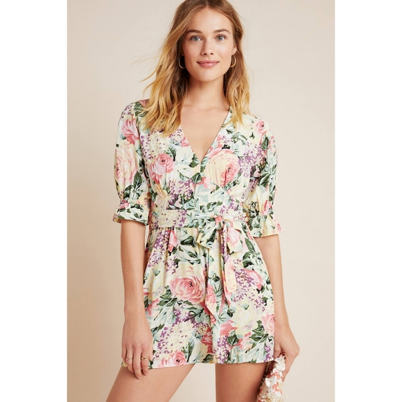 NEW Faithful the Brand Ana floral romper playsuit